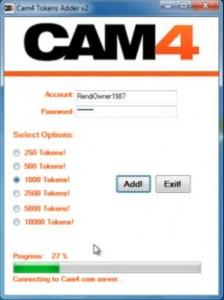 kostenlose Token zu Deinem Cam4 Account hinzufügen